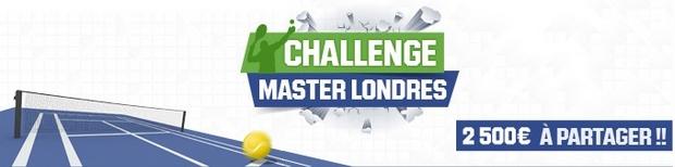 Masters de Londres sur Unibet