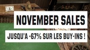 Jusqu'à 67% de réductions sur les buy-ins d'Unibet au mois de novembre