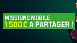 Les Missions Mobile du mois d'avril sur Unibet Poker