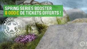 Unibet Poker : les missions Spring Series Booster d'avril