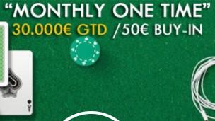 Le tournoi MTT Monthly One Time sur Unibet Poker