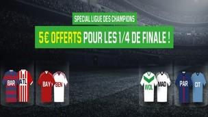 Unibet vous offre 5€ sur la Ligue des Champions