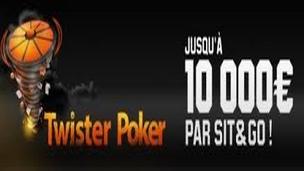 10 000 euros en jeu par sit&go Twister