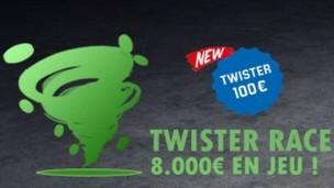 Unibet Poker met 8.000€ mis en jeu pour la Twister Race du mois de juin 2017