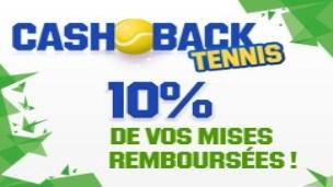 Unibet lance Cashback Tennis