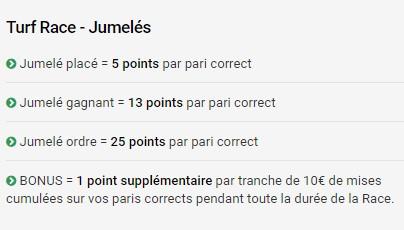 Remportez des points avec vos paris gagnants pour l'Unibet Turf Race Jumelés