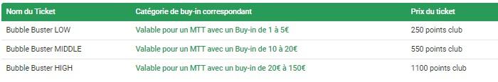 Achetez vos tickets Bubble Buster sur Unibet.fr