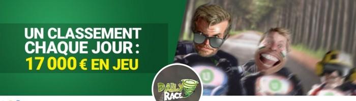 17.000€ en jeu pour les Daily Race aux tables de Twister sur Unibet Poker