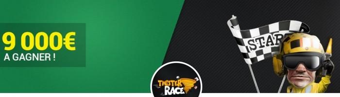 9.000€ à partager avec la Twister Race de septembre sur Unibet Poker